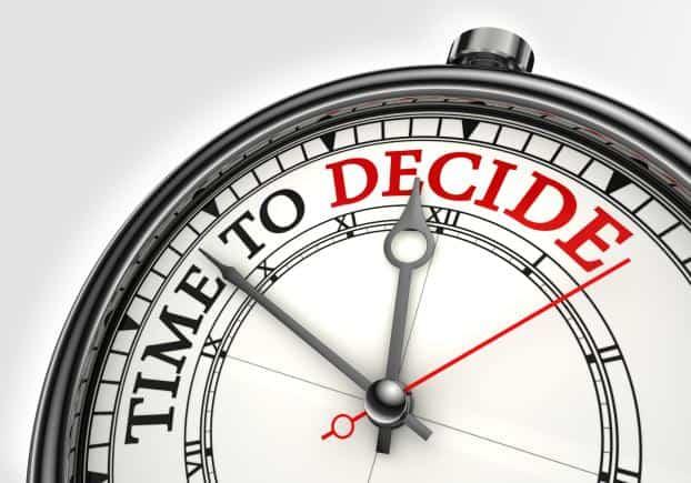 """orologio """"tempo di decidere"""""""