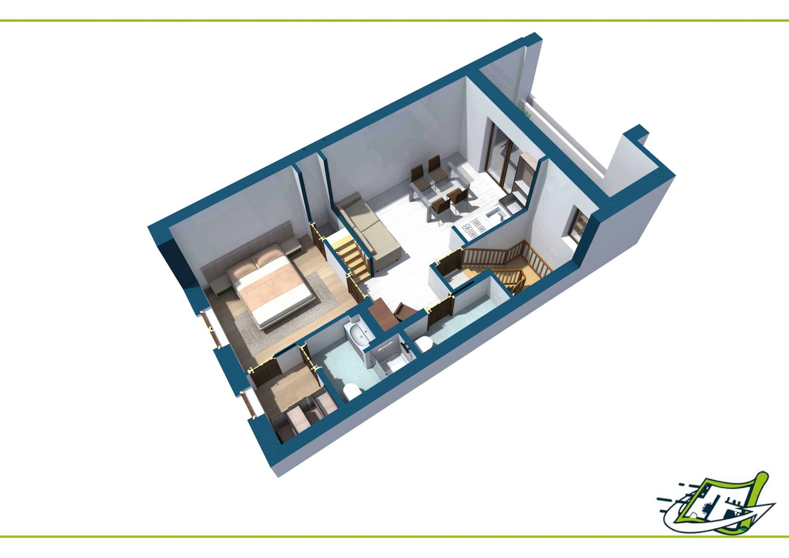 Planimetria Arredata 3D #10
